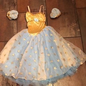 Gold and blue Stars Dance Dress
